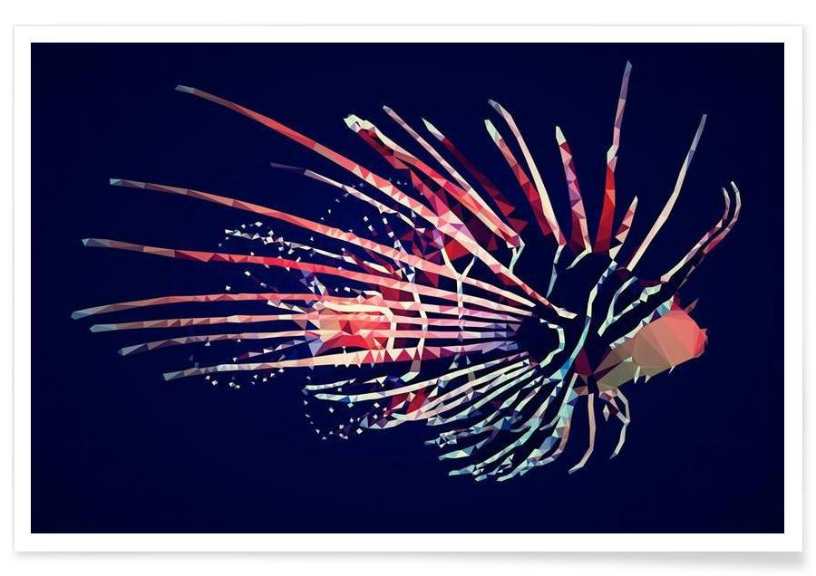 Fisk, Pterois radiata Plakat