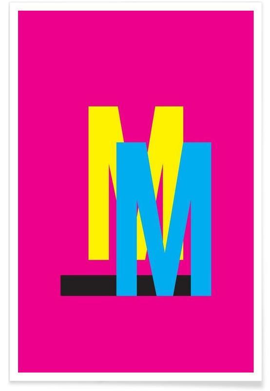 Alphabet et lettres, CMYK-M affiche