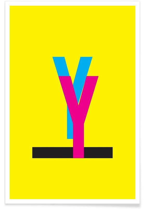 Alphabet et lettres, CMYK-Y affiche
