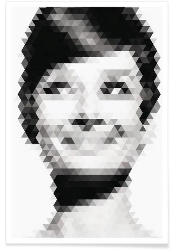 Noir & blanc, Portraits, Geomaudry affiche