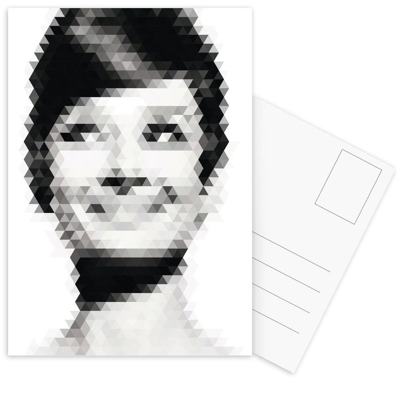 Zwart en wit, Portretten, Geomaudry ansichtkaartenset