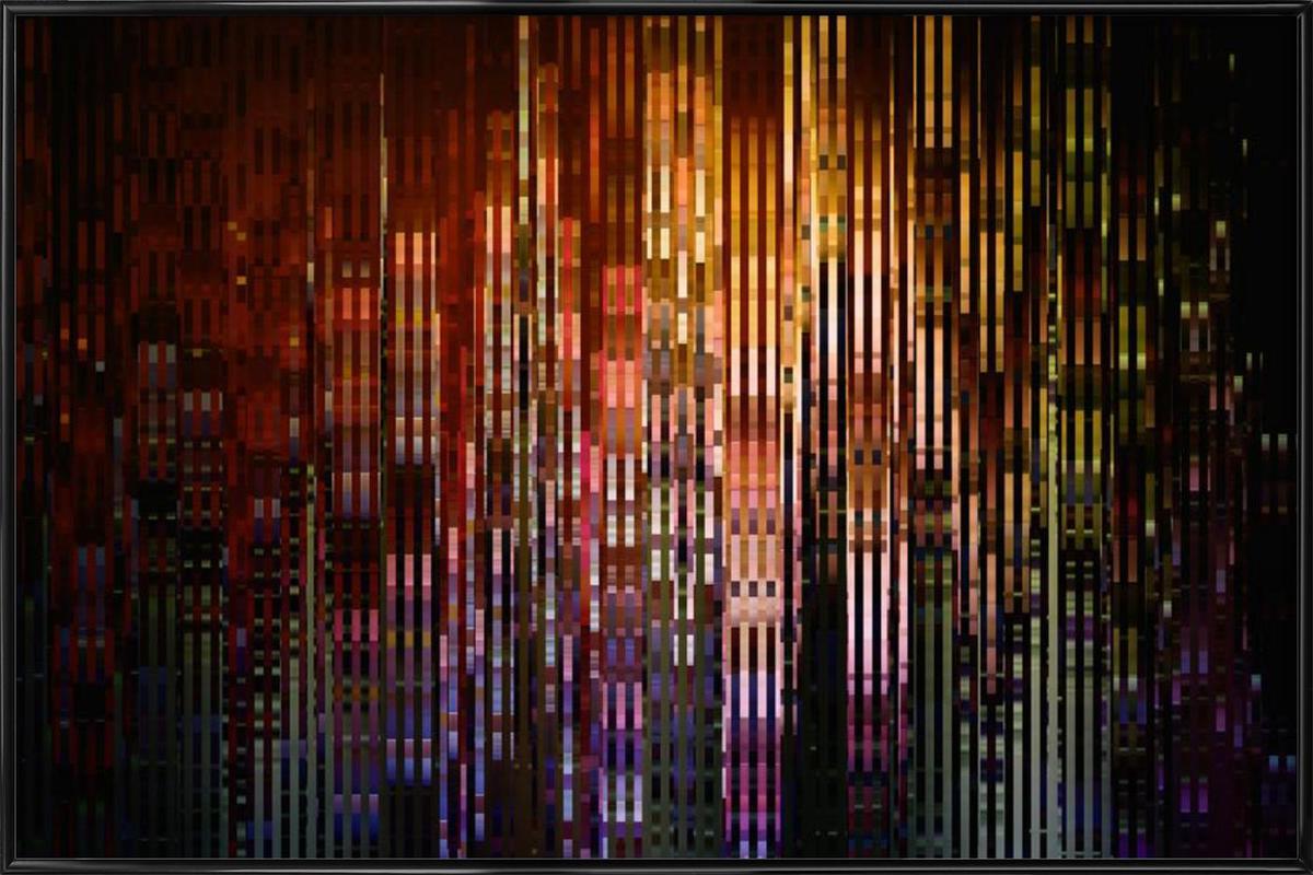 Metropolis -Bild mit Kunststoffrahmen