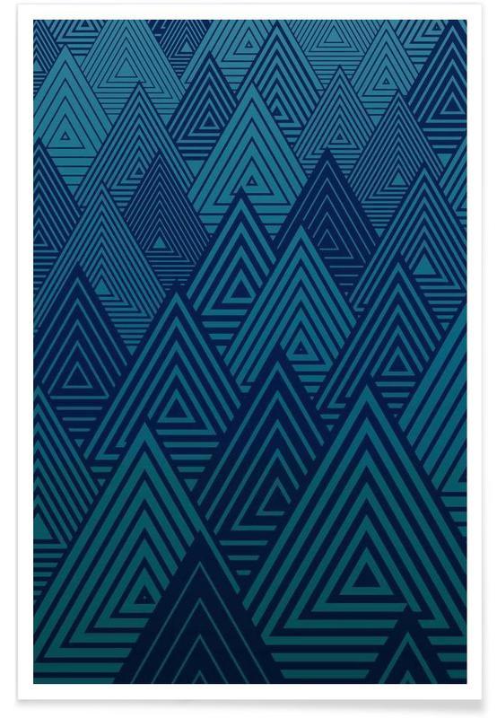 Patterns, Indigo Forest Poster