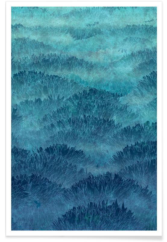 Abstrakte Landschaften, Eastern Hills -Poster