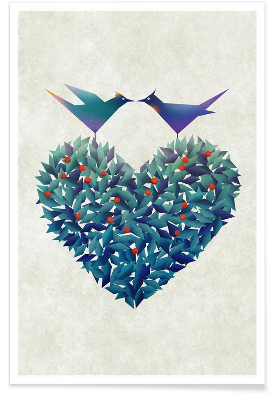 Cœurs, Saint-Valentin, Love Birds affiche
