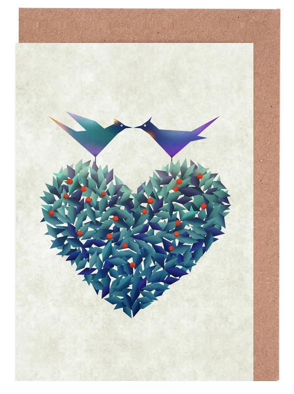 Love Birds Greeting Card Set