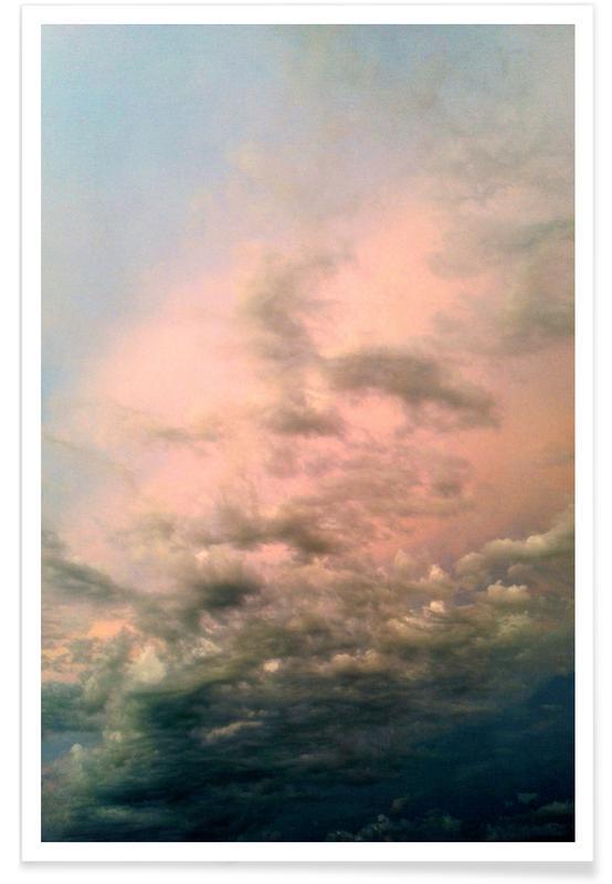 Ciels & nuages, Couchers de soleil, Pink Epic affiche