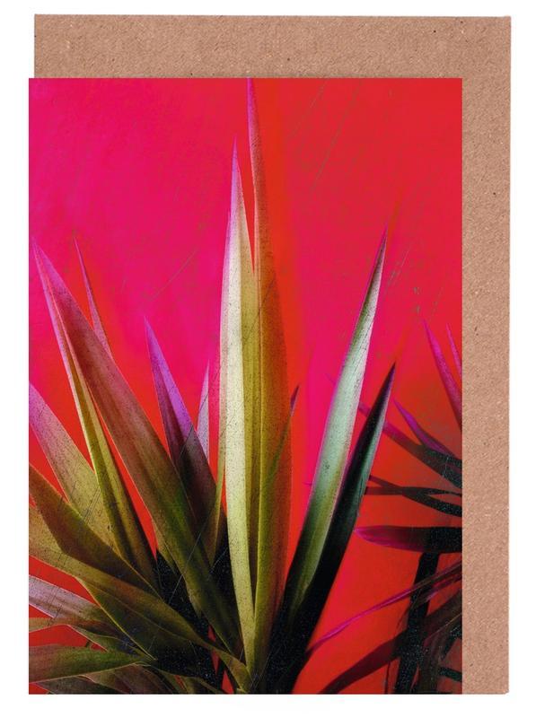 Vivid Pink Greeting Card Set