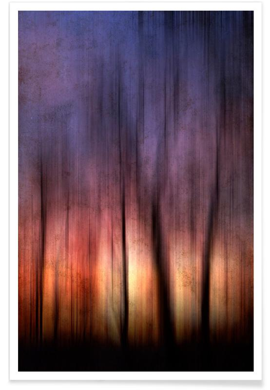 Wälder, Sonnenuntergänge, A Blurred Sunset Preview -Poster