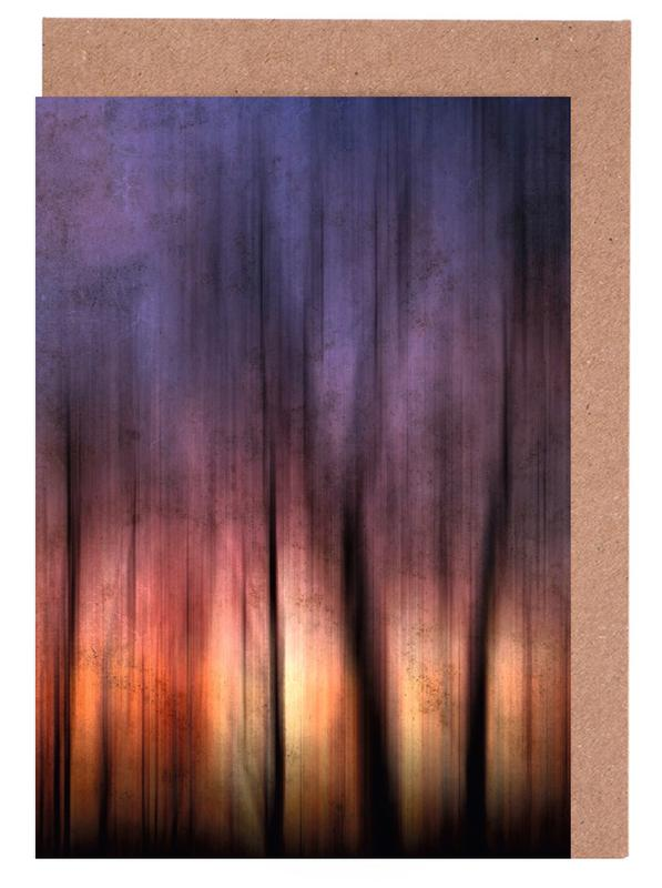 A Blurred Sunset Preview Greeting Card Set