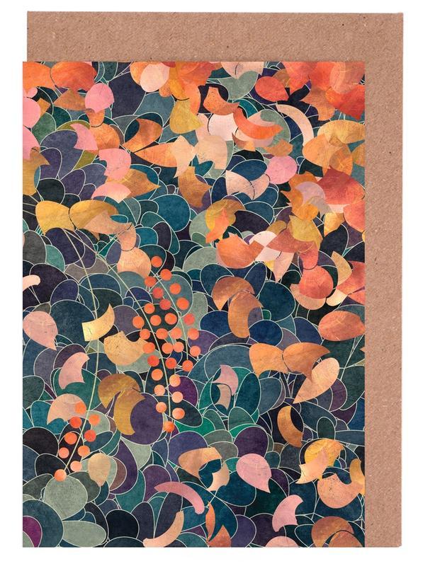 Muster, Blätter & Pflanzen, A Shiny Path 3 -Grußkarten-Set
