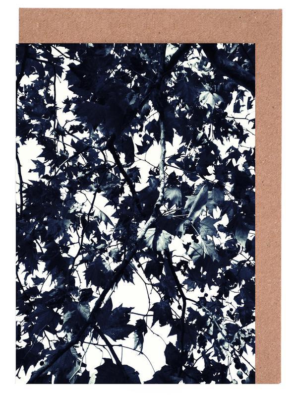 Schwarz & Weiß, Blätter & Pflanzen, Bäume, Fade to Grey -Grußkarten-Set