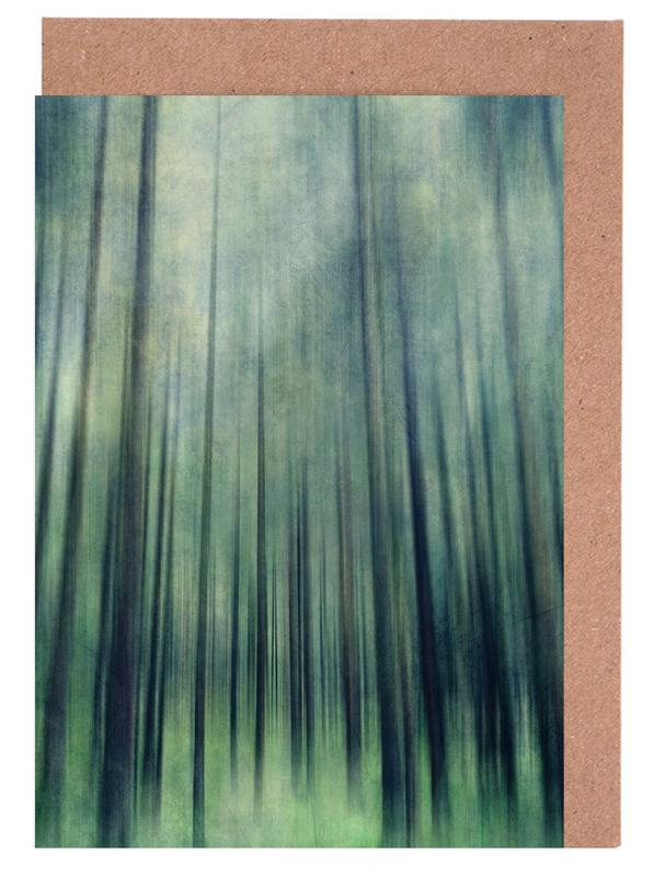 Wälder, Green Woods Ascent -Grußkarten-Set