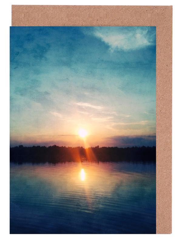 Ozeane, Meere & Seen, Sonnenuntergänge, Here Comes the Night -Grußkarten-Set