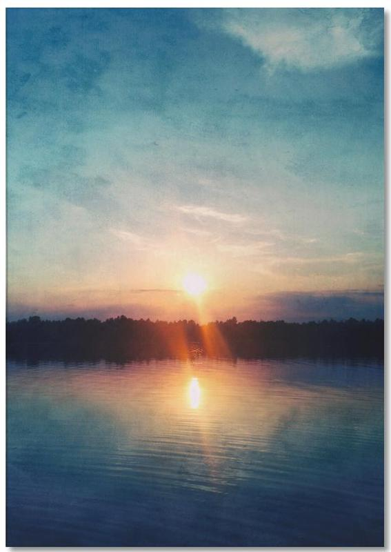 Ozeane, Meere & Seen, Sonnenuntergänge, Here Comes the Night -Notizblock