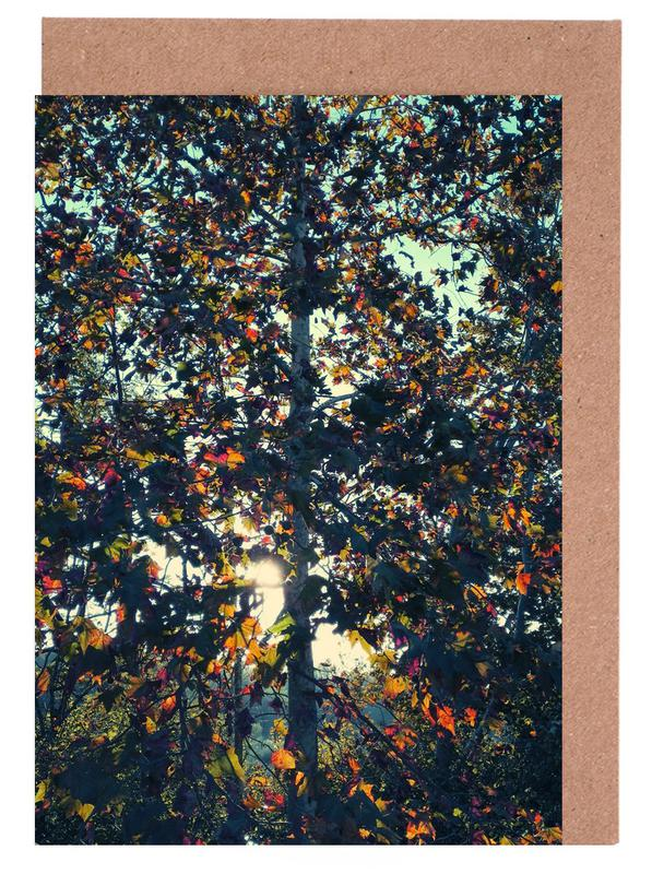 Blätter & Pflanzen, Bäume, Autumn Language -Grußkarten-Set