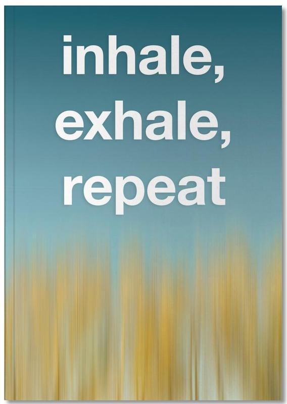 Motivational, Yoga, Inhale Exhale Notebook