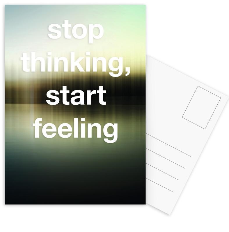 Motivation, Yoga, Stop Thinking cartes postales