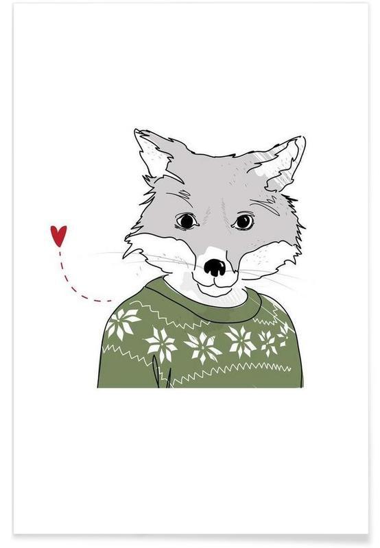Furry Fox Poster