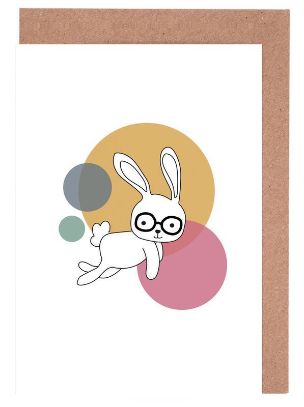 Kunst voor kinderen, Konijnen, Space Rabbits Castor wenskaartenset