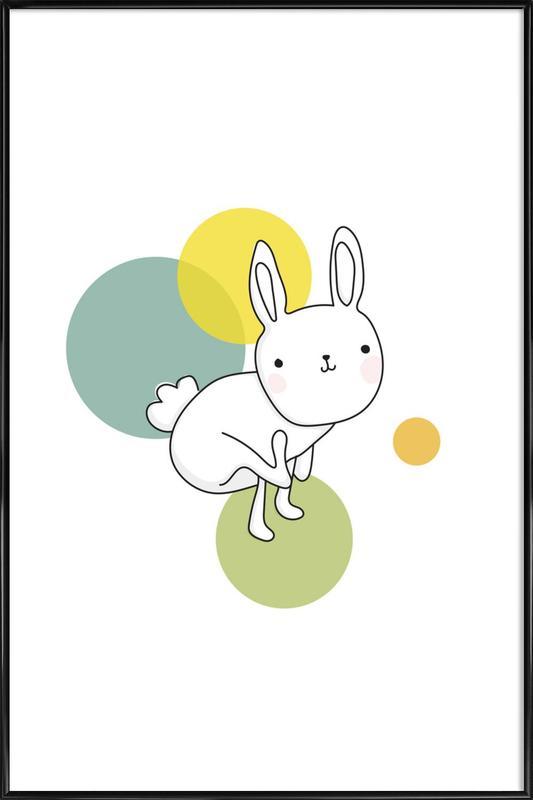 Space Rabbits Luna ingelijste poster