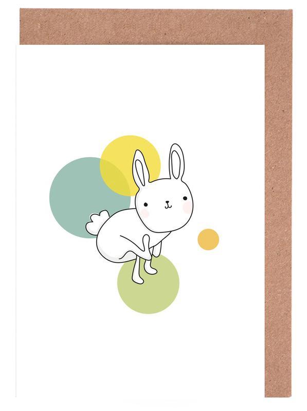 Kunst voor kinderen, Konijnen, Space Rabbits Luna wenskaartenset