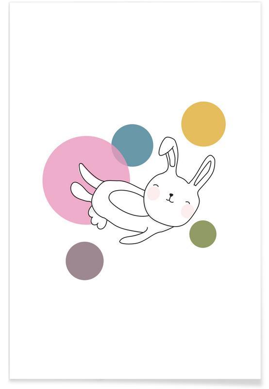 Kinderzimmer & Kunst für Kinder, Kaninchen, Space Rabbits Neo -Poster