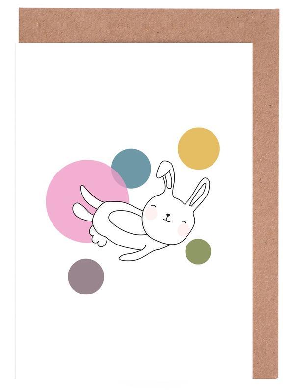 Kunst voor kinderen, Konijnen, Space Rabbits Neo wenskaartenset