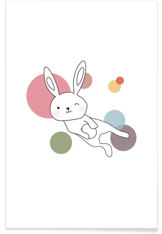 Kunst voor kinderen, Konijnen, Space Rabbits Selena poster