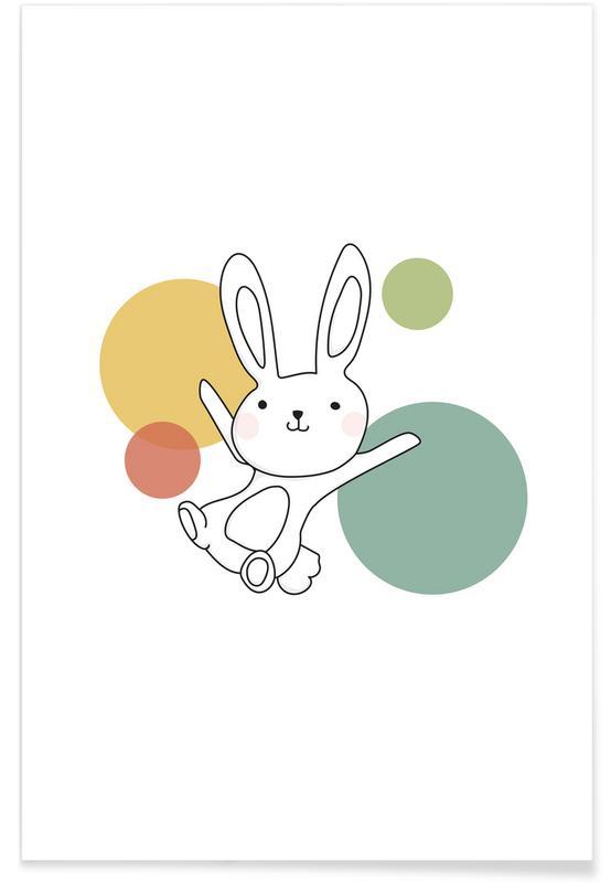 Kinderzimmer & Kunst für Kinder, Kaninchen, Space Rabbits Vega -Poster