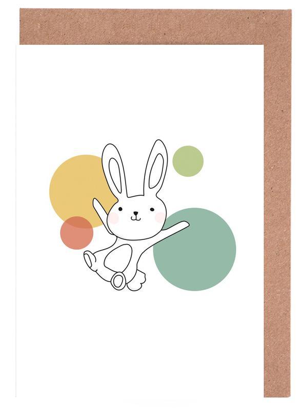 Kunst voor kinderen, Konijnen, Space Rabbits Vega wenskaartenset