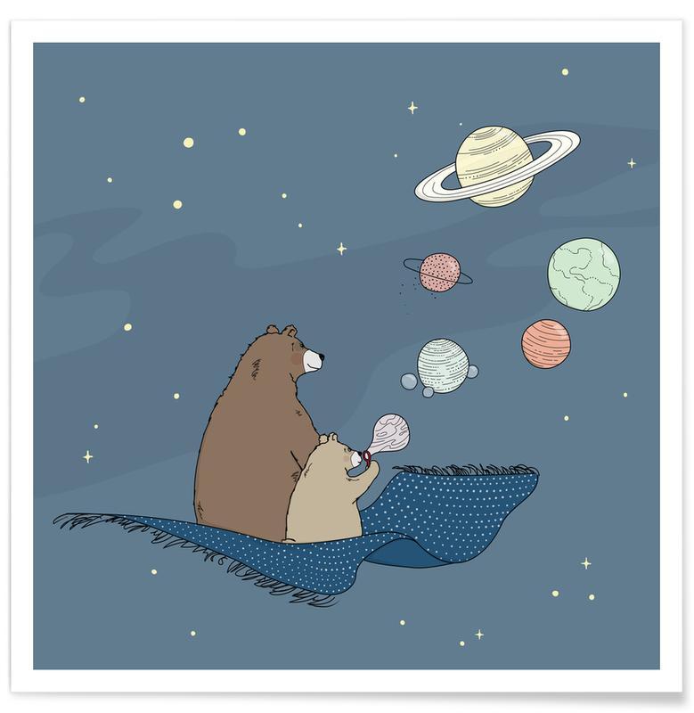 Kunst voor kinderen, Beren, Bubbles poster