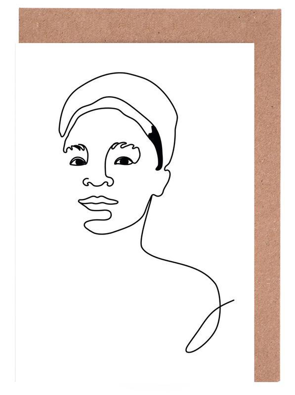 Schwarz & Weiß, Lean On My Shoulder -Grußkarten-Set