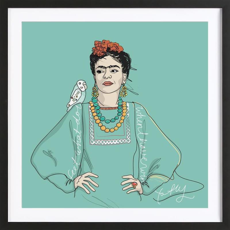 Frida Kahlo ingelijste print