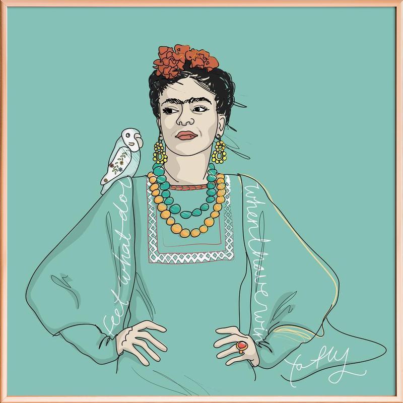 Frida Kahlo poster in aluminium lijst