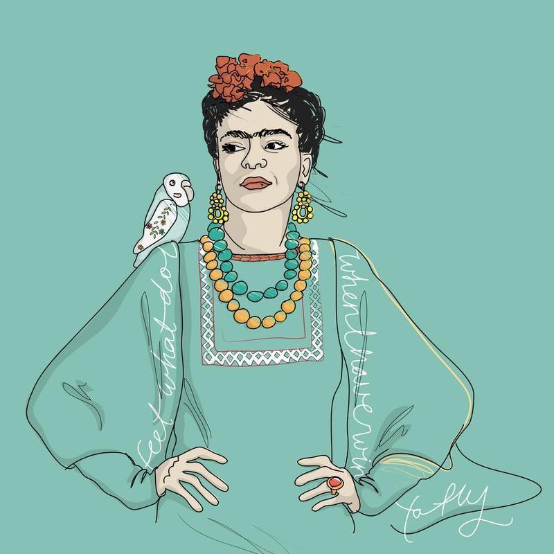 Frida Kahlo -Acrylglasbild