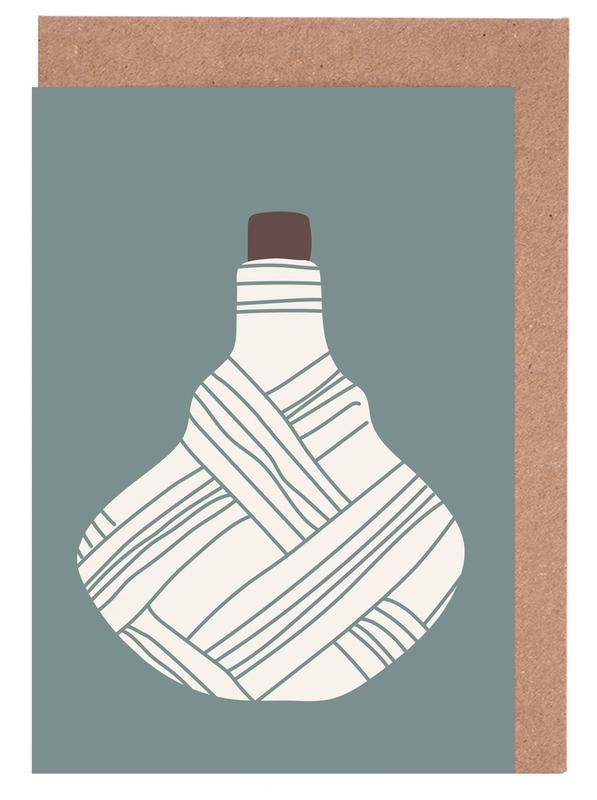 , Vintage Bottle 2 wenskaartenset