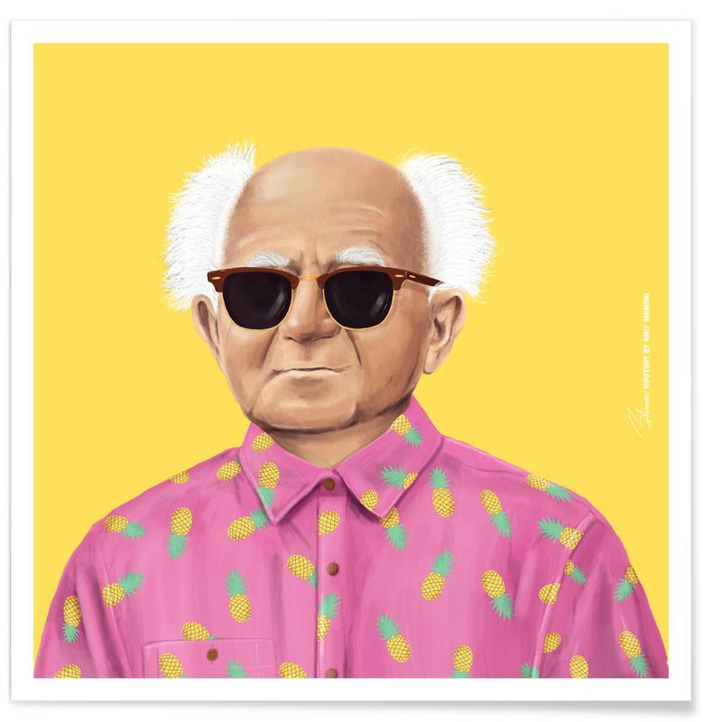 Personnages politiques, Pop Art, Ben Gurion affiche