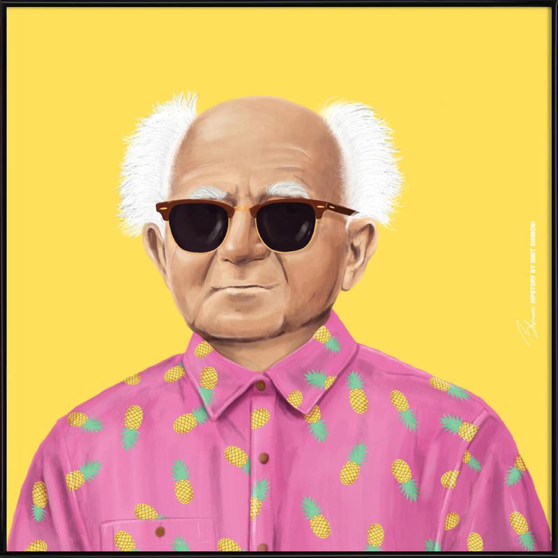 Ben Gurion -Bild mit Kunststoffrahmen