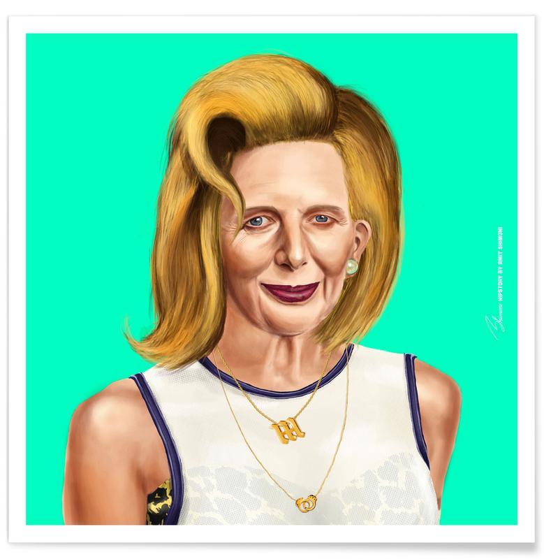 Personnages politiques, Pop Art, Margaret Thatcher affiche
