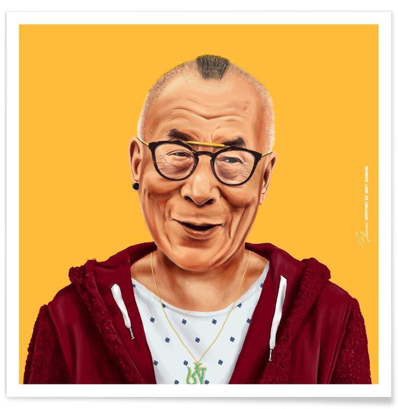 Personnages politiques, Pop Art, Dalai Lama affiche