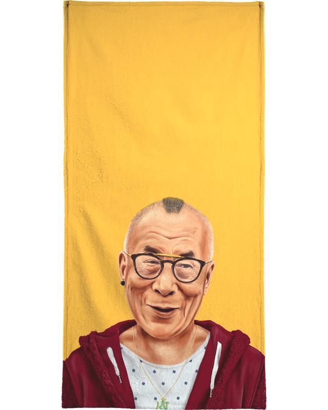 Personnages politiques, Pop Art, Dalai Lama serviette de bain