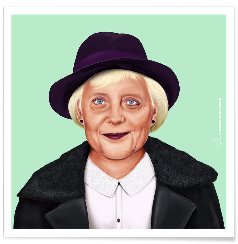 Personnages politiques, Pop Art, Angela affiche