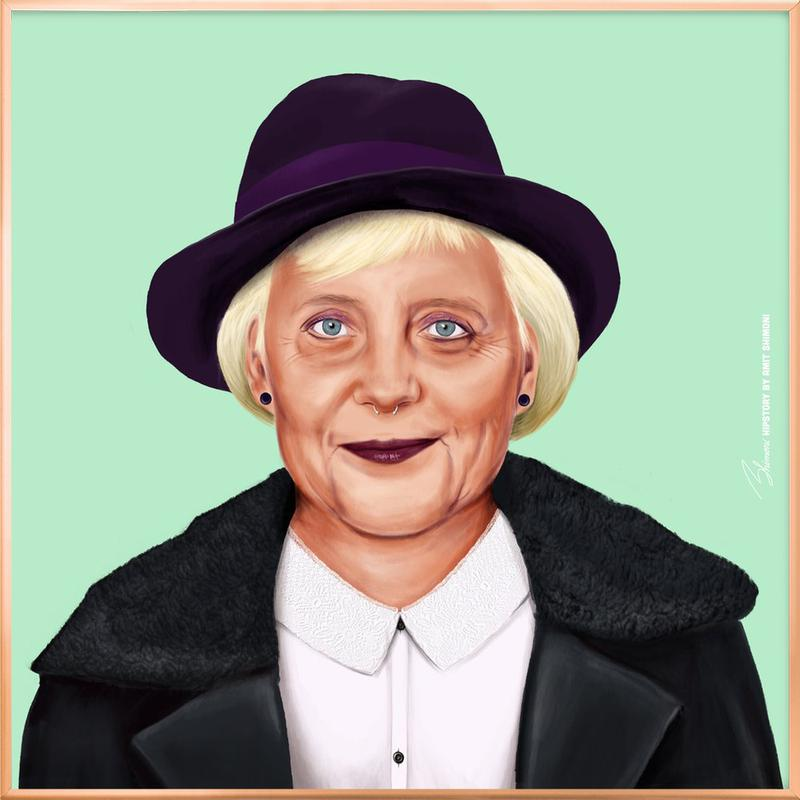 Angela -Poster im Alurahmen