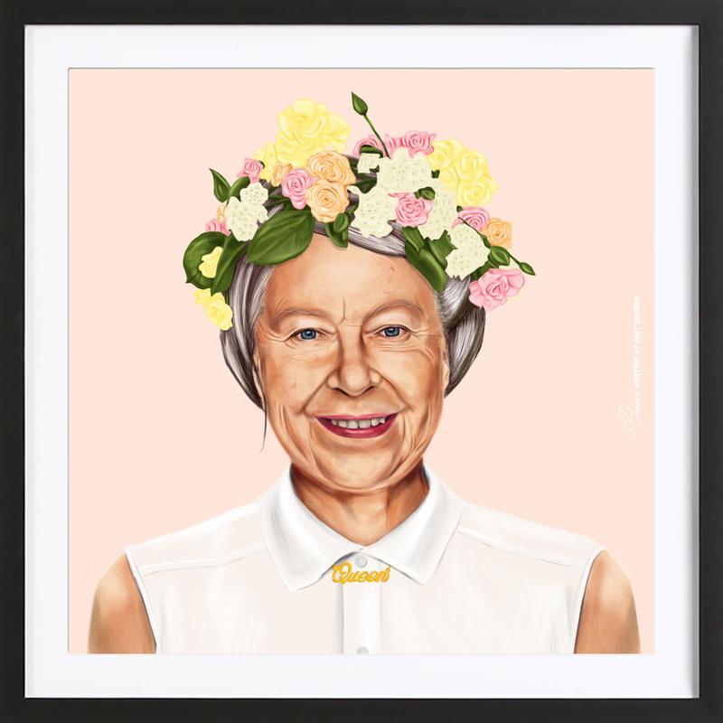 Queen Elizabeth ingelijste print
