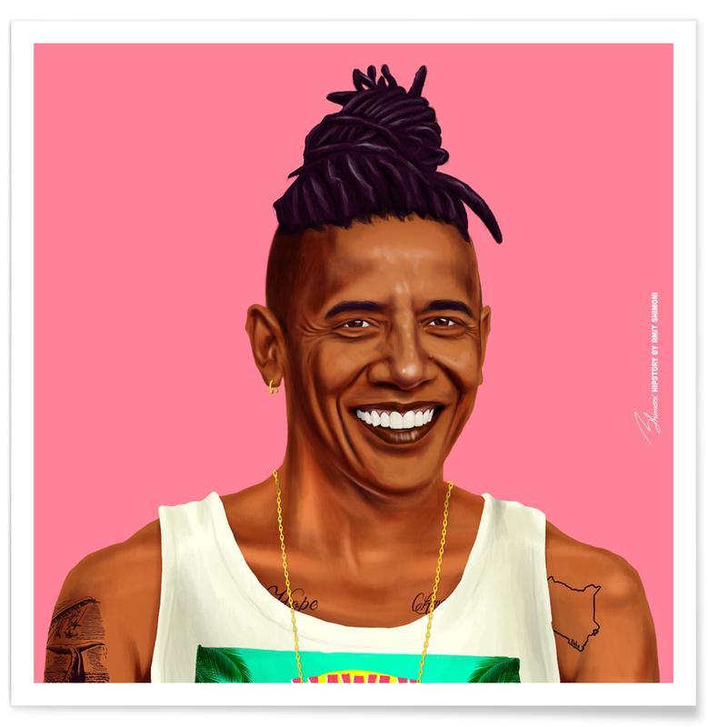 Politische Figuren, Pop Art, Obama -Poster