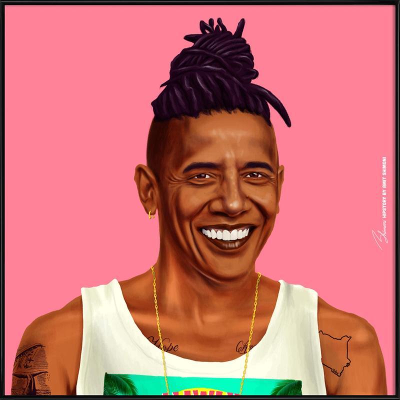 Obama -Bild mit Kunststoffrahmen