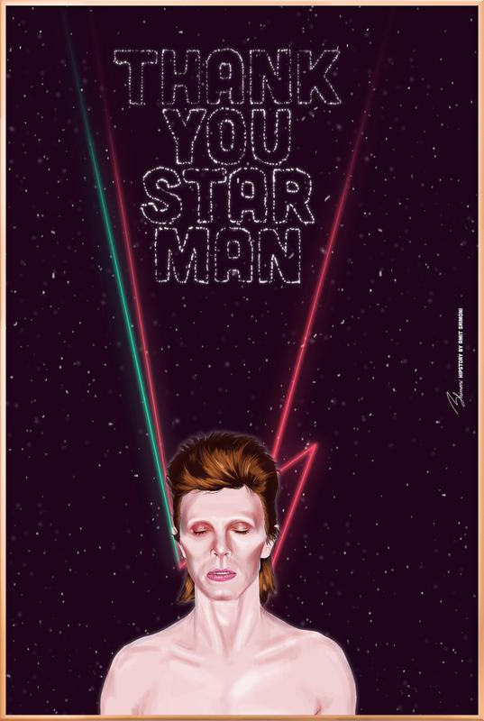 Bowie Poster in Aluminium Frame