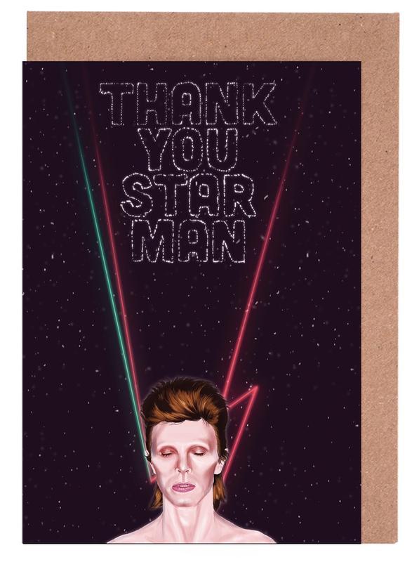 Bowie -Grußkarten-Set