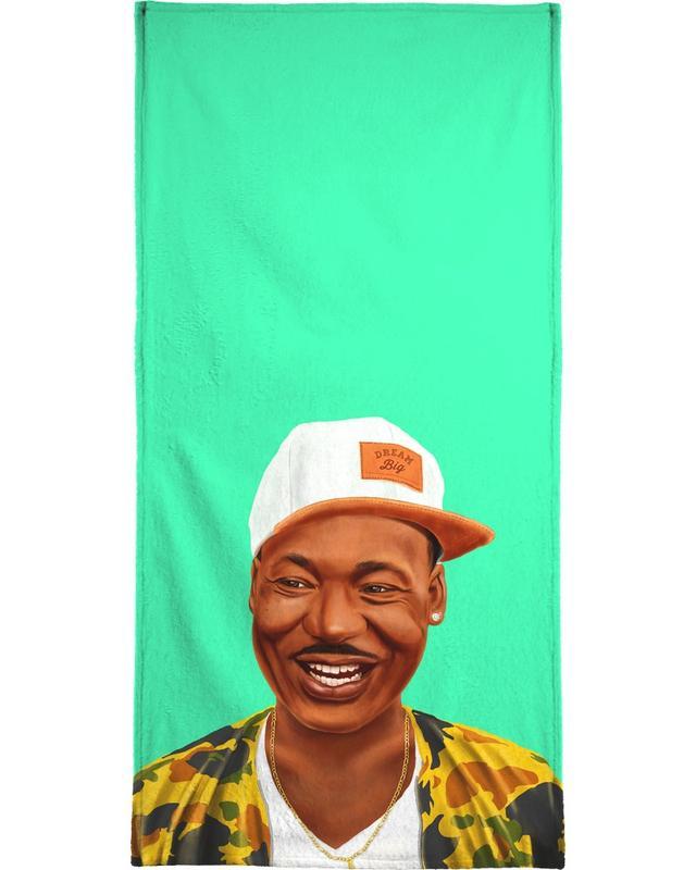 Personnages politiques, Pop Art, Martin Luther King serviette de bain
